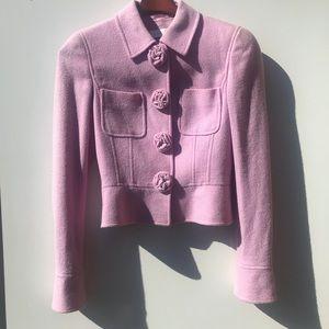 ESCADA Wool Blend Flower Button 🌸 Blazer